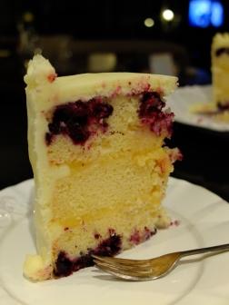 Inside the cake.