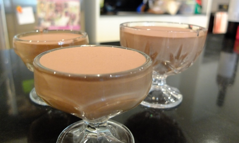 The more traditional Chocolate Mousse.