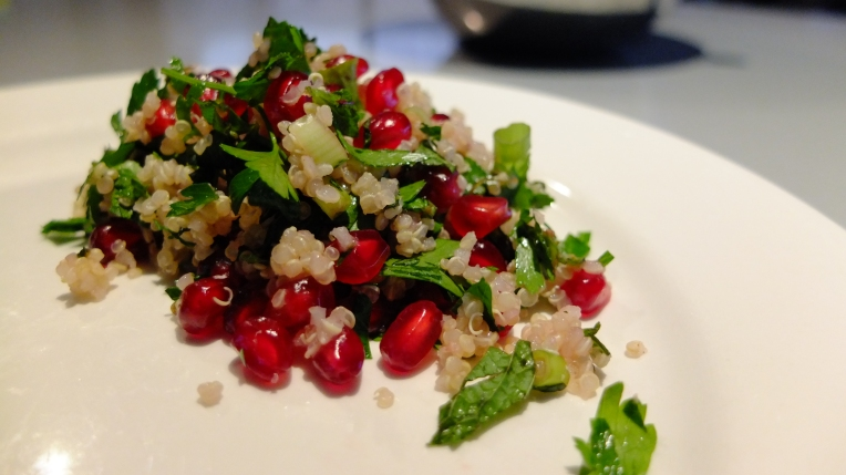 Pomegranate and Quinoa Tabouli