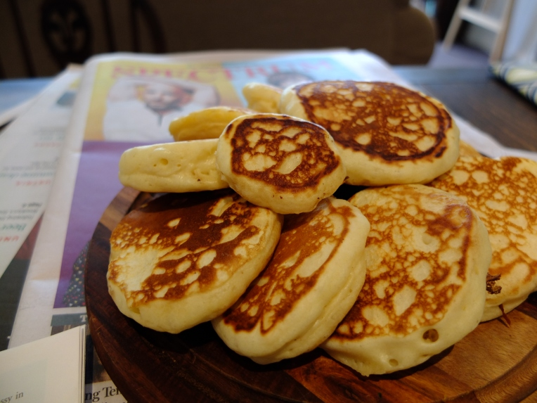 Light and fluffy pikelets.
