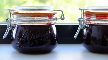 Jam made from foraged goods.